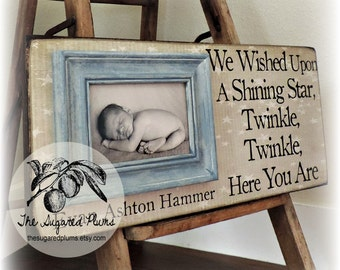Twins Baby Gifts, Twin Frame, Baby Twins, Boy Girl Twins, Gifts for Twins, Twice The Blessing Twice the Fun, 8x20 The Sugared Plums