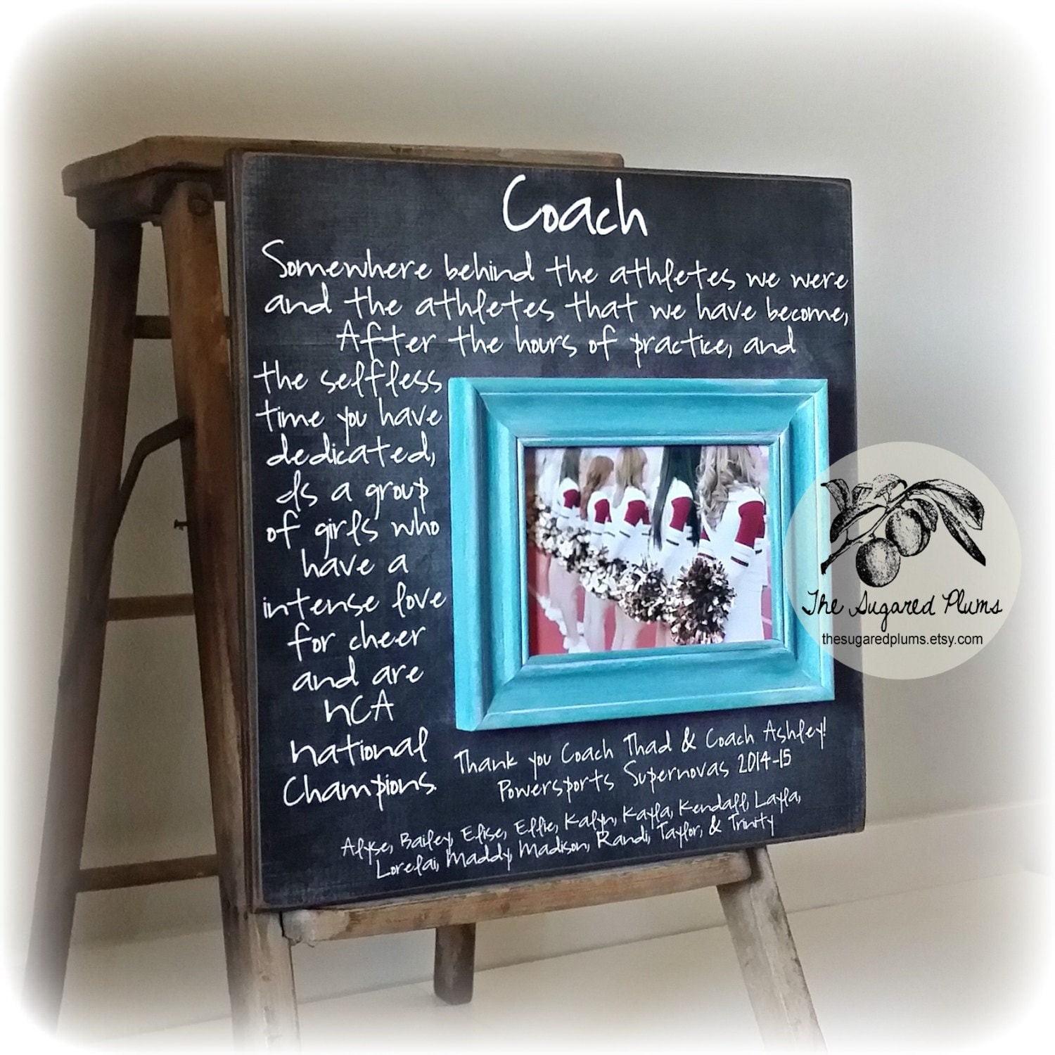 Custom Coach Picture Frame Gift Cheer Coach Gift Soccer
