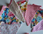 Belle Mix & Match bunting pink yellow florals gingham pastel garland