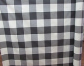 BUFFALO CHECK in charcoal gray designer,drapery/bedding/upholstery fabric