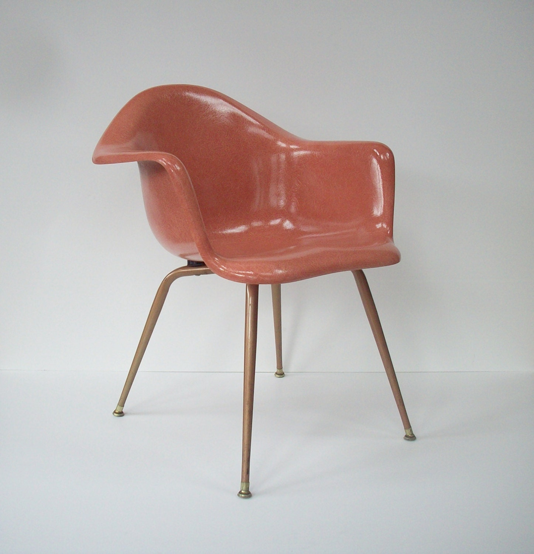 Vintage Chromcraft Fiberglass Shell Chair / Mid Century Modern