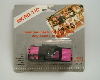 Pink Micro 110 Camera, in Original Package with wrist strap