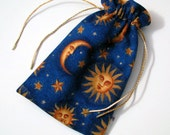 Tarot Card Pouch - Cobalt Night and Day