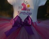1st Birthday Tutu Set by RockintheTutu - Princess Tutu - Crown Tutu -Cake Smash - Birthday Crown - First Birthday