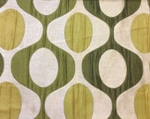 Fabric for Pillow covers in  Golden Beige and Olive/Green with Geometric Pattern