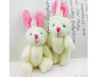 1pair Off-White Rabbit Toy (8cm)