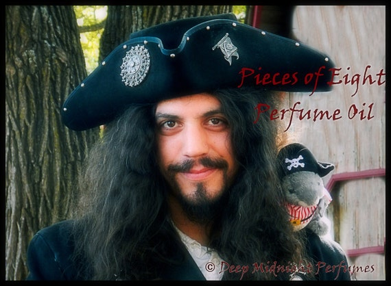 PIECES OF EIGHT Perfume Oil - Patchouli, Leather, Ocean Air, Kaffir Lime, Old Wood, Labdanum - Pirate Perfume
