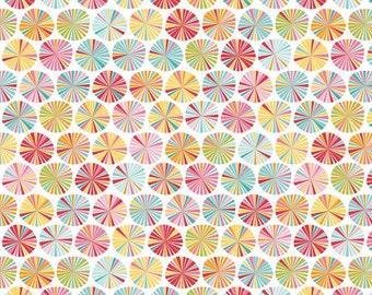 Fancy Free Pinwheels Multi by Lori Whitlock for Riley Blake, 1/2 yard
