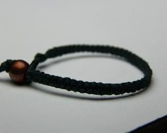 Dark Green Hemp Bracelet