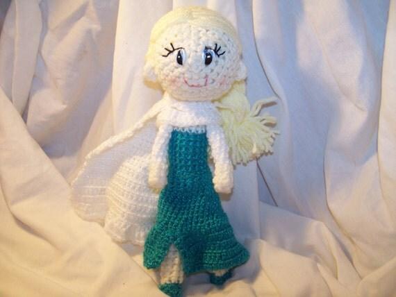 Crochet Elsa Doll : Crochet Elsa doll frozen