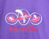 Red Hat Society T-Shirt - Red Hat Diva