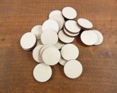 """25 Stud Earring Circle 3/4"""" (19mm) Unfinished Wood Shapes Laser Cut Jewelry Making NO Hole"""