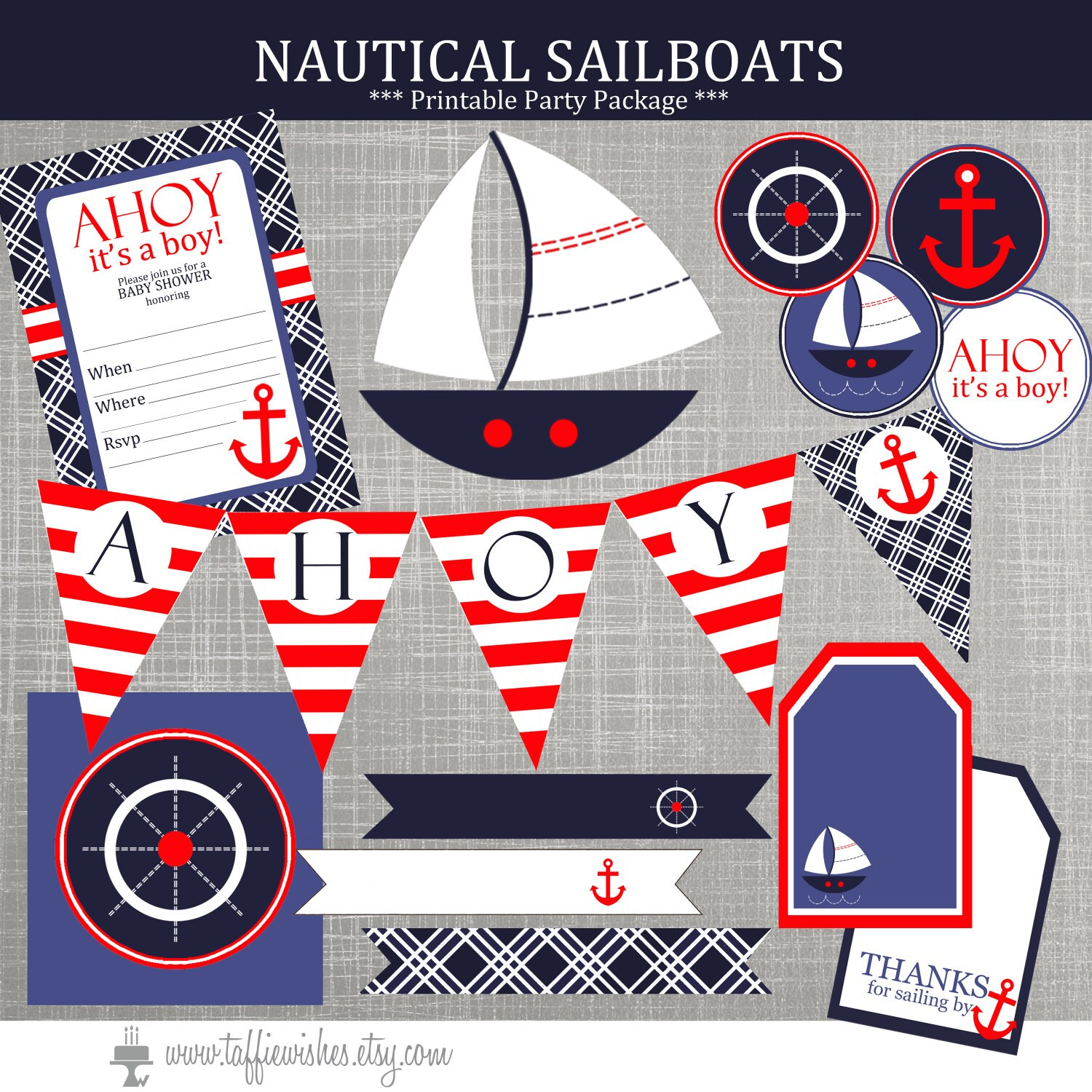 Nautical Baby Shower Decorations Nautical Birthday Party