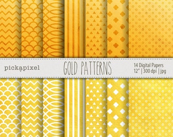 Yellow and White Digital Papers, Textured Papers , Scrapbooking , Blogs , Cards , Backgrounds