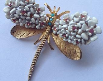 Vintage SA Dragonfly Brooch