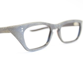 Unused Faux Wood Cat Eye Glasses Cateye Frames Vintage Eyewear 1960s Eyeglasses New Old Stock