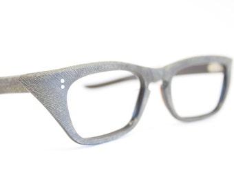Unused Faux Wood Cat Eye Glasses Cateye Frames Vintage Eyewear 1960s Eyeglasses New Old Stock