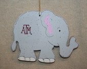 6191-Elephant ornament Texas A&M University Aggies