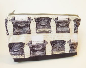 Typewriters Zip Pouch