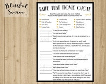 Bridal Shower Game / Name that Movie Love Quote / Romantic Movie Quote Game / Great Gatsby Theme / Wedding Shower Game