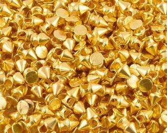 Casting-7x11mm Spike Bead-Gold-Quantity 5