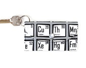 Periodic Elements Keychain Wallet, Student ID Card Holder, Dorm Room Keychain, Credit Card Holder Key Ring
