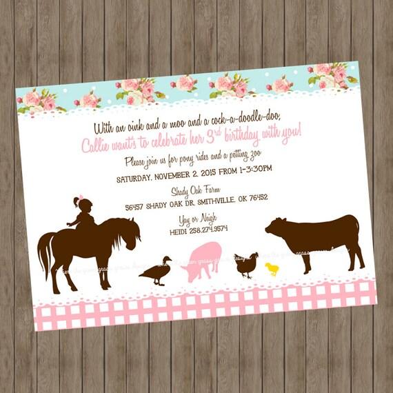 Shabby Chic Farm Invitations
