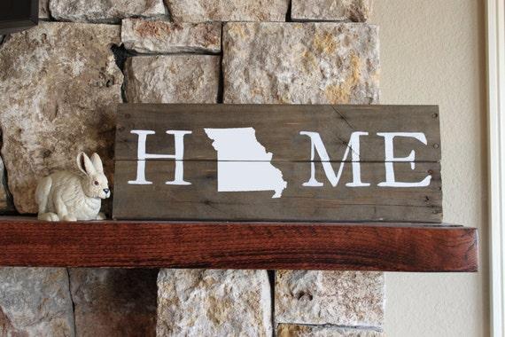 Missouri HOME - Reclaimed Wood Sign