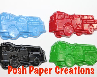 5 Firetruck crayons - choose your colors