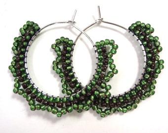 Green with Envy Hoop Earrings