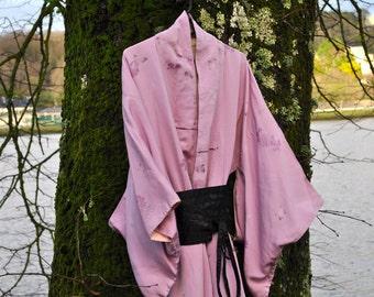Vintage Lilac Kimono