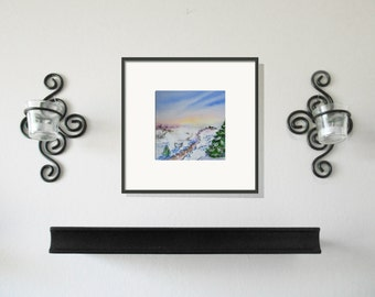Winter Original Painting Four Seasons Series Free Shipping in US