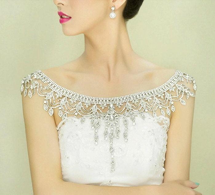 bridal shoulder necklace backdrop necklace backless bridal