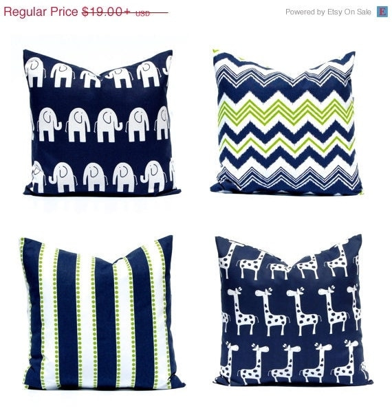 sale navy blue euro sham pillow navy blue by festivehomedecor. Black Bedroom Furniture Sets. Home Design Ideas