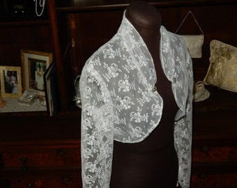 Vintage inspired Chantilly Lace Bolero Jacket    Made to Order