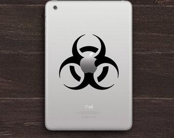 Biohazard Apple Vinyl iPad Decal BAS-0113