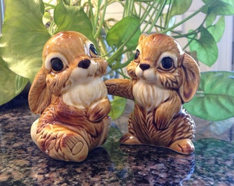 Some Bunny Loves You • Ceramic Salt and Pepper Shakers • Two Too Cute Bunny Rabbits