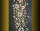 oil painting original ready to hang floral art x-large free shipping wall hanging by nithyafinearts