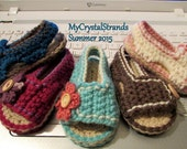 NEW Pattern Crochet Side Button Flap Baby Sandal - Instand Download - Boys and Girls
