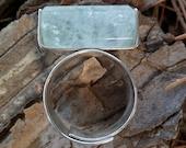 Aquamarine Ring. Adjustable Ring. Rough  Beryl Ring. Aquanarine Ring. Gemstone. Aquamarine And Silver Ring. Handmade. Aquamarine Properties.