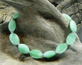 "Green aventurine agate bracelet 8"" long magnetic clasp semiprecious stone jewelry packaged in a colorful gift bag 10995"