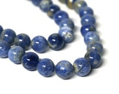 10mm Sodalite beads, natural blue round gemstone,  full & half strands available  (1066S)
