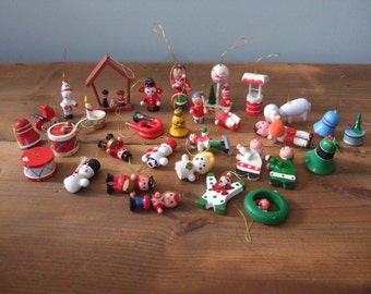 Christmas Wooden Toy Ornament Collection