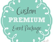 PREMIUM PARTY PACKAGE - custom made to order decorations - you choose the theme & colors