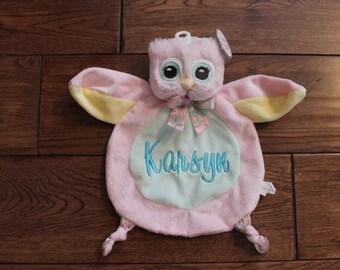 blanket, baby blanket, Owl blanket, mini mini owl blanket, personalized owl blanket