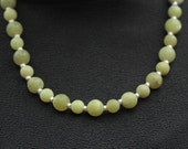 Sterling and Green Frosted Agate Necklace