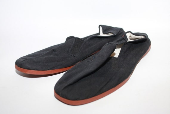 awesome black vegan slip on shoes mens size 9 by
