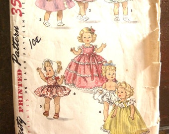 "1372 Simplicity 8"" Doll Pattern Ginny Muffie Alexander-Kins"