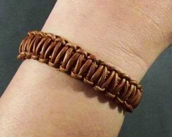 Leather Bracelet, Brown Leather Bracelet, Women Bracelet, Men leather Bracelet, Leather Jewelry, Leather Wristband, Leather, Mens Jewelry