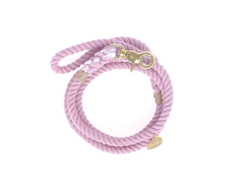 Hand-dyed Cotton Rope Dog Leash: Dream No.2 (Muted Blush Pink Lilac)